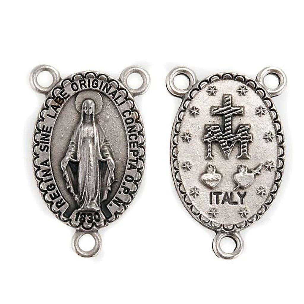 Rosary center piece Miraculous Virgin Mary 4