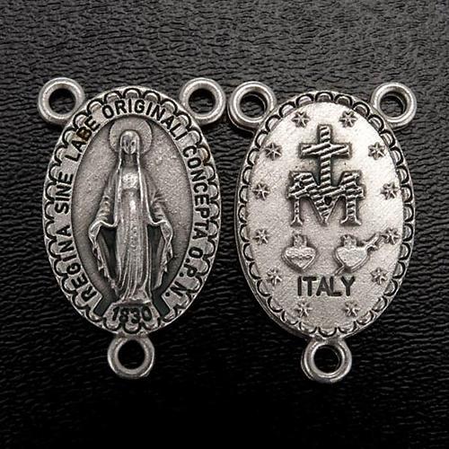 Pieza central oval para la fabricación de rosarios Virgen 2