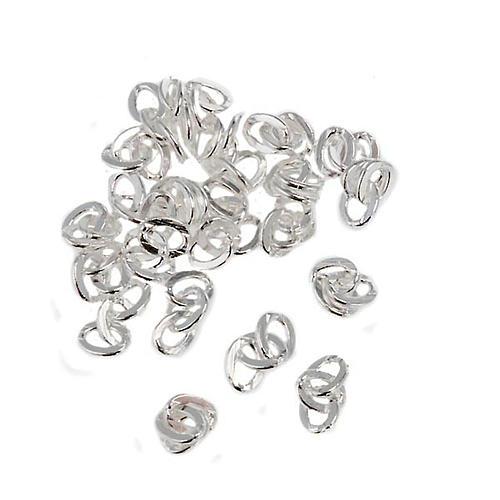 Ketten-Glieder aus versilbertem Metall 1