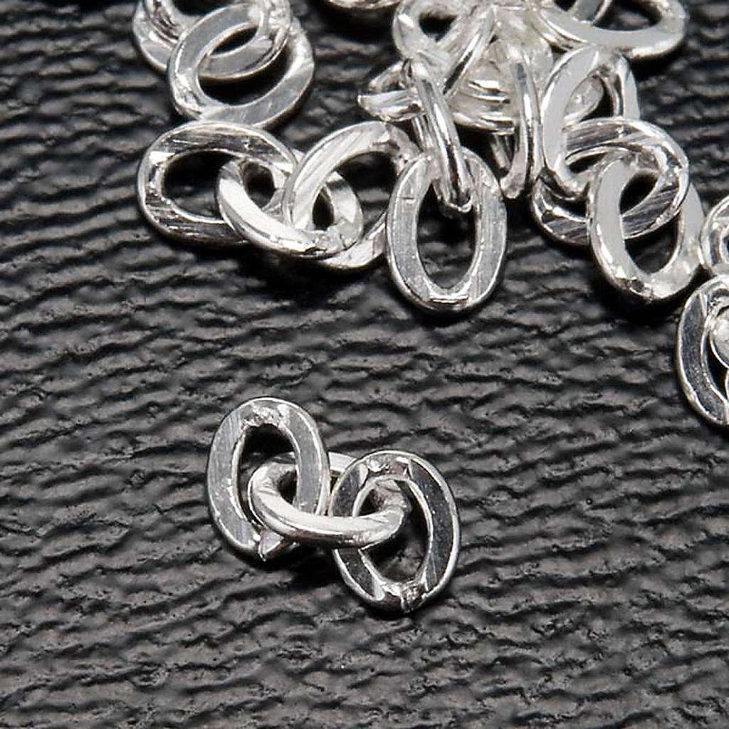 Cadena para cuello 3 eslabones para rosarios 4