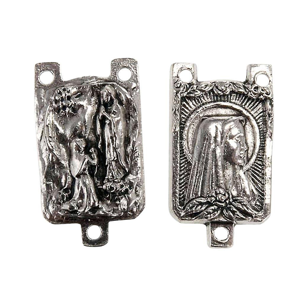 Łącznik metal różaniec zrób to sam Madonna z Lourdes 4