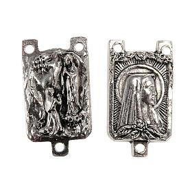 Łącznik metal różaniec zrób to sam Madonna z Lourdes s1
