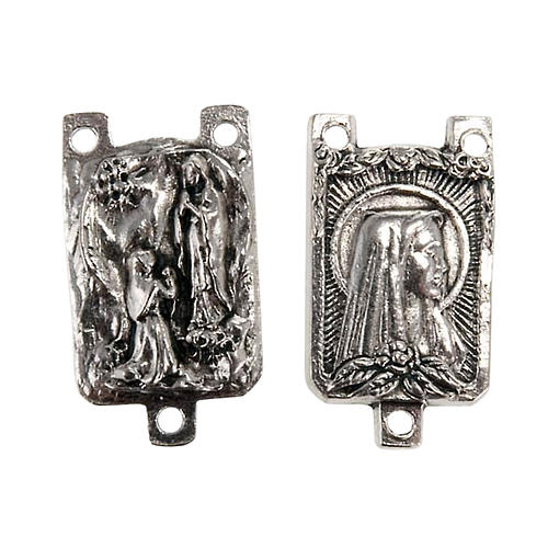 Łącznik metal różaniec zrób to sam Madonna z Lourdes 1