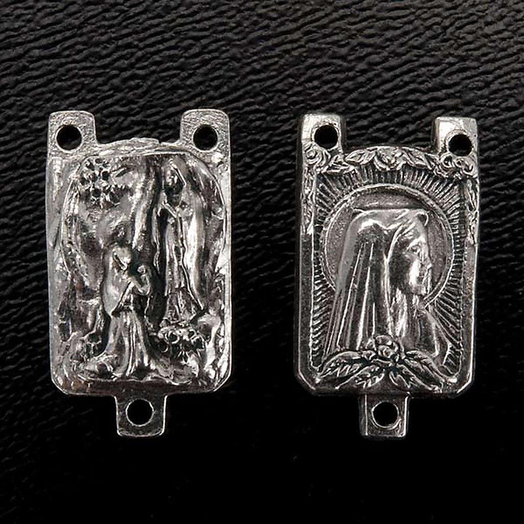 Medalha metal criação terços Nossa Senhora de Lourdes 4
