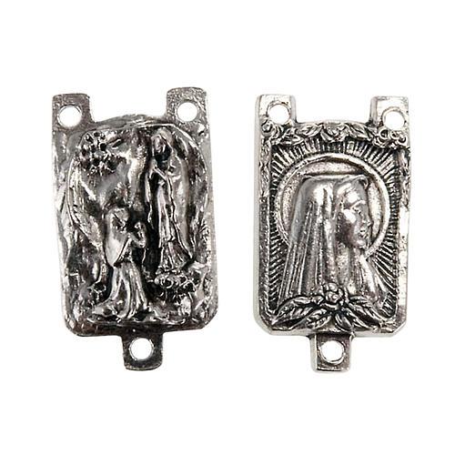 Medalha metal criação terços Nossa Senhora de Lourdes 1