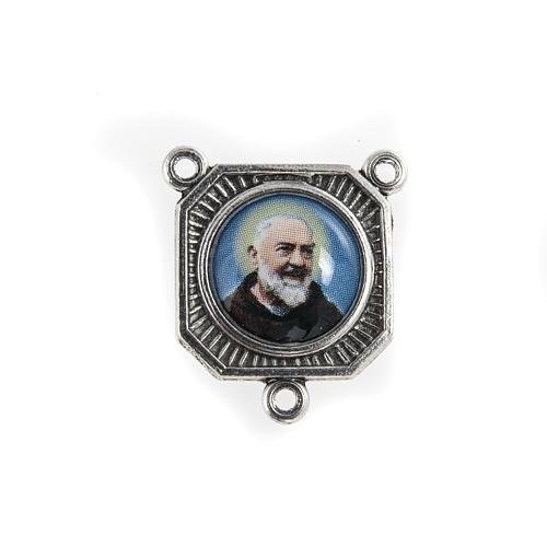 Crociera metallo Padre Pio con Maria 1