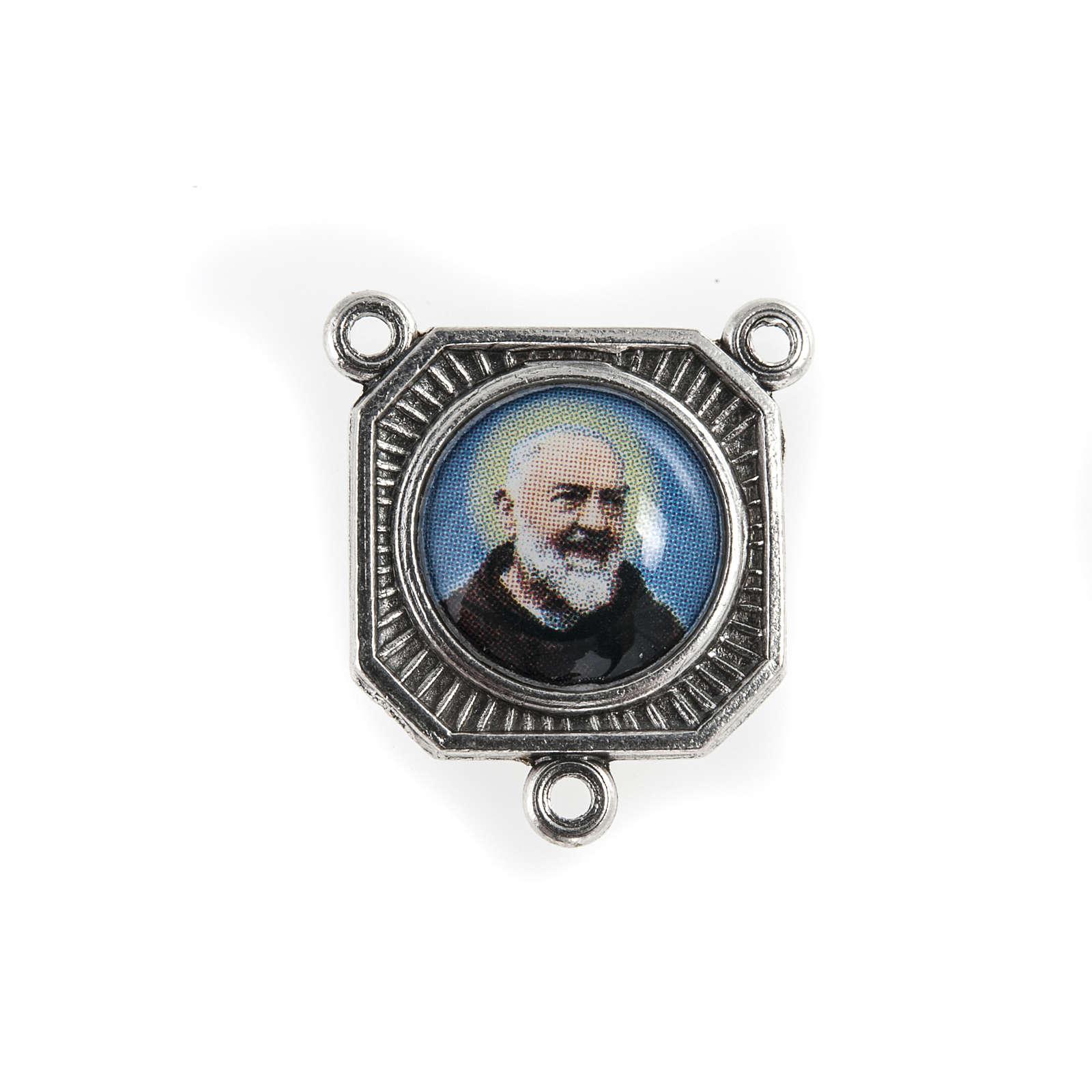 Rosary center piece Father Pio 4