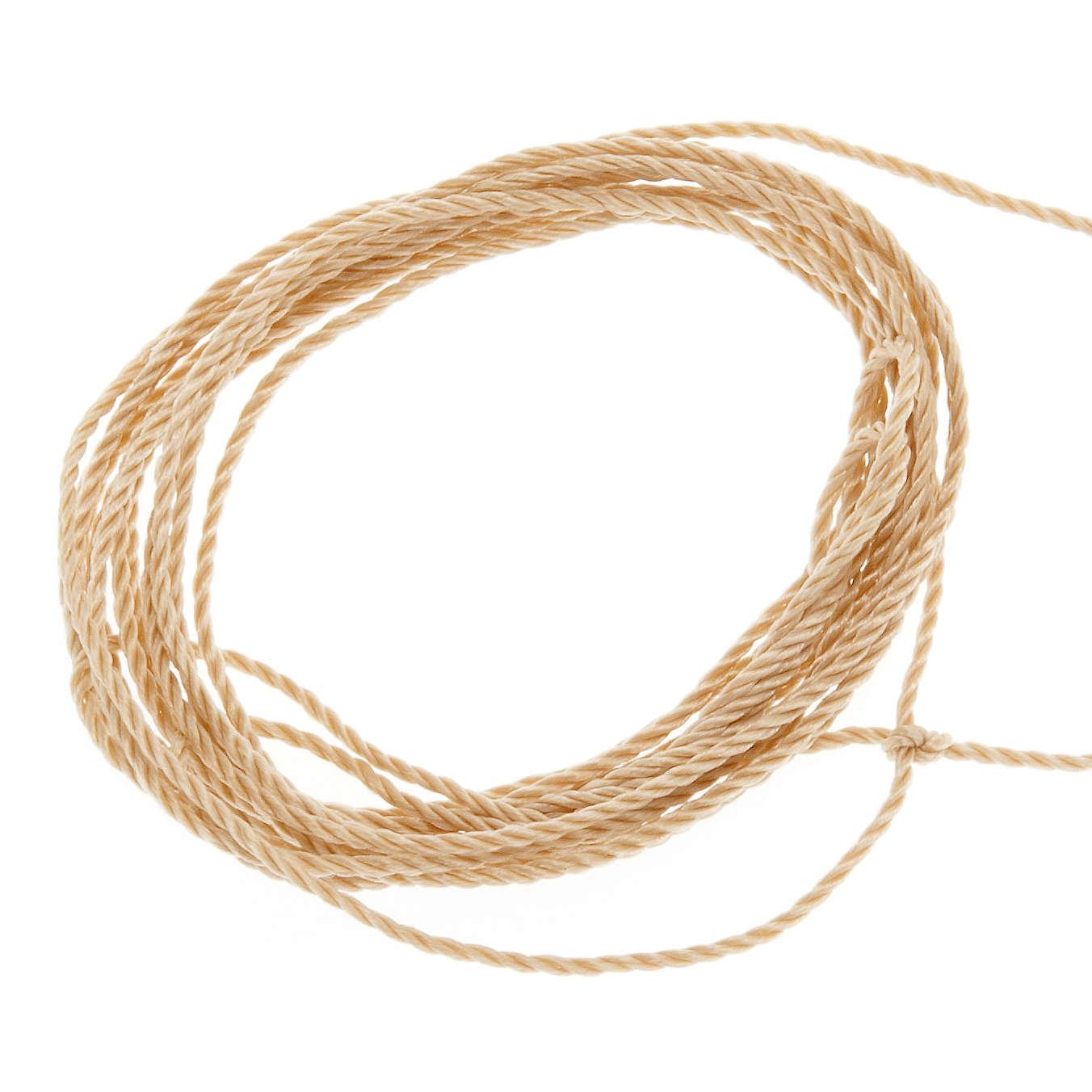 Cuerda beige para rosarios 4