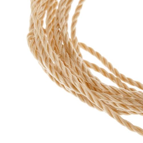 Corde beige pour chapelets à faire soi-même 2