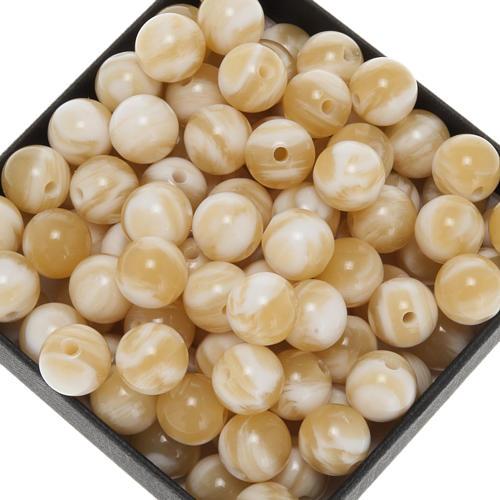 Grani per rosari imitazione corno chiaro tondo 9 mm 1