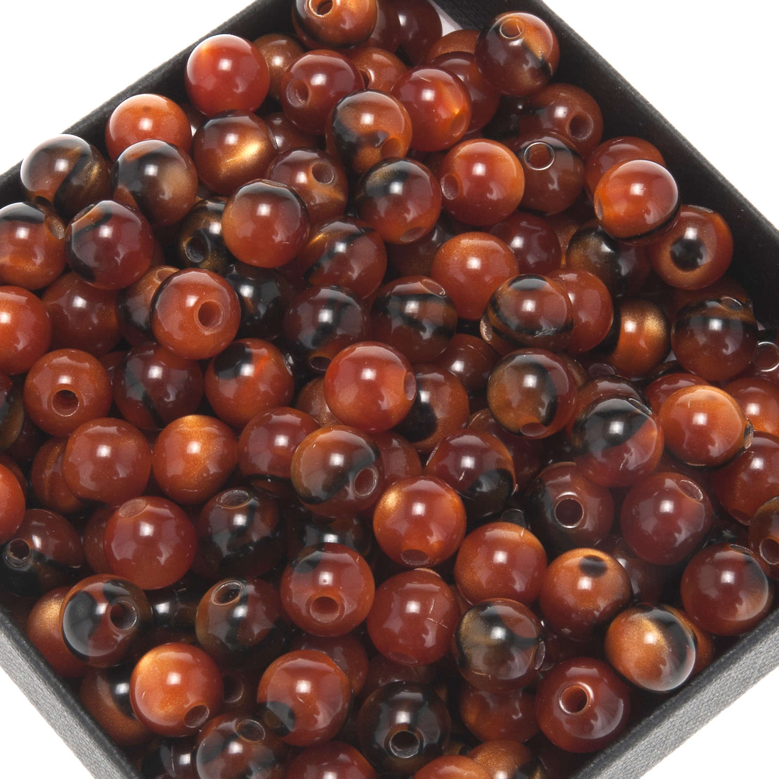 Grains for do-it-yourself rosary, fake tiger's eye 7mm 4