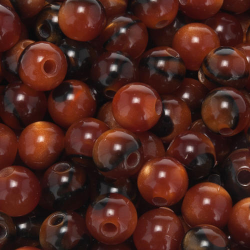 Grains for do-it-yourself rosary, fake tiger's eye 7mm 2