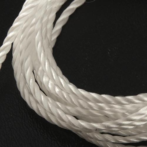 Corda bianca per rosari fai da te 2