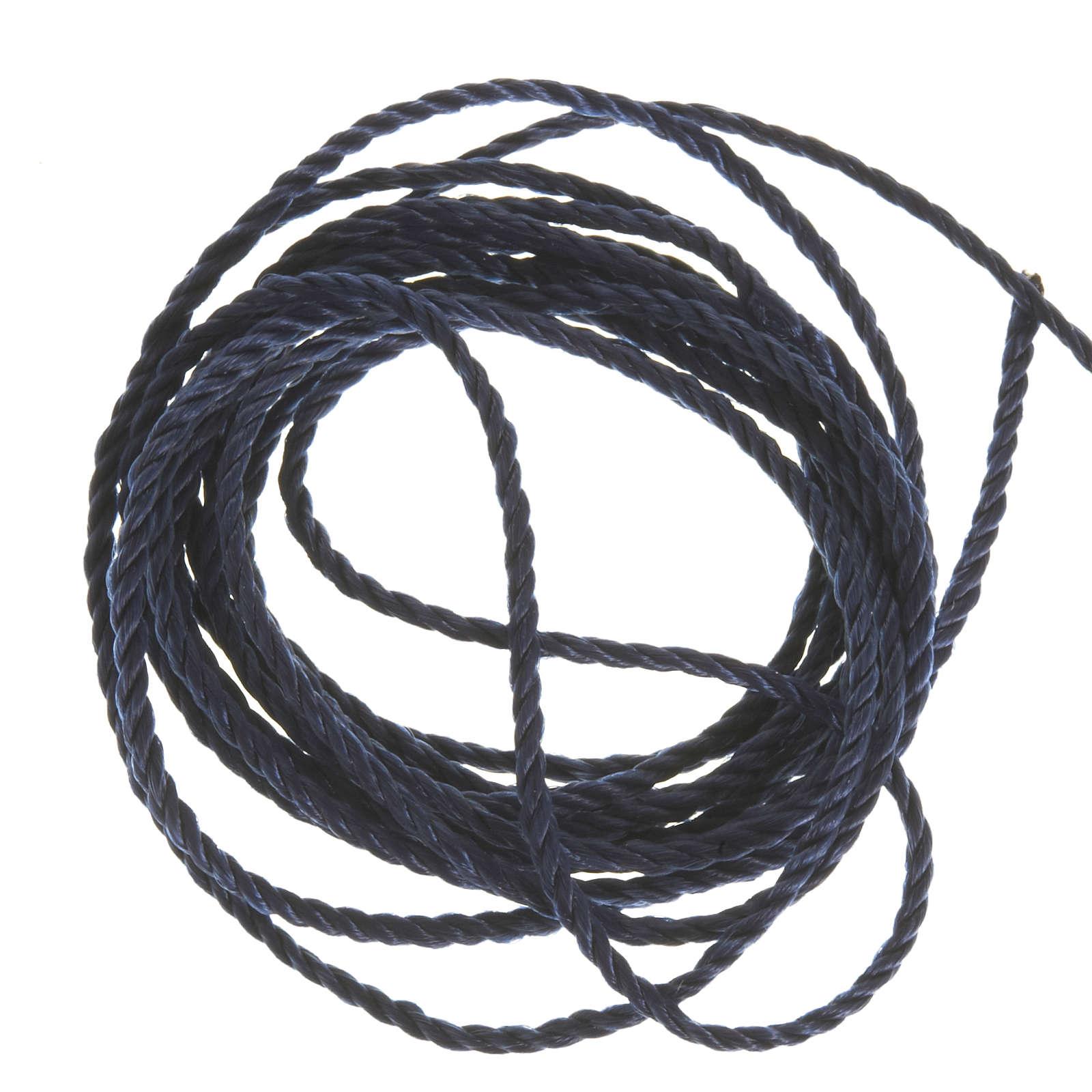 Corda blu scuro per rosari fai da te 4
