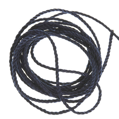 Corda blu scuro per rosari fai da te 1