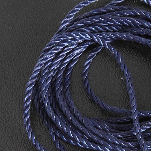 Corda blu scuro per rosari fai da te 2