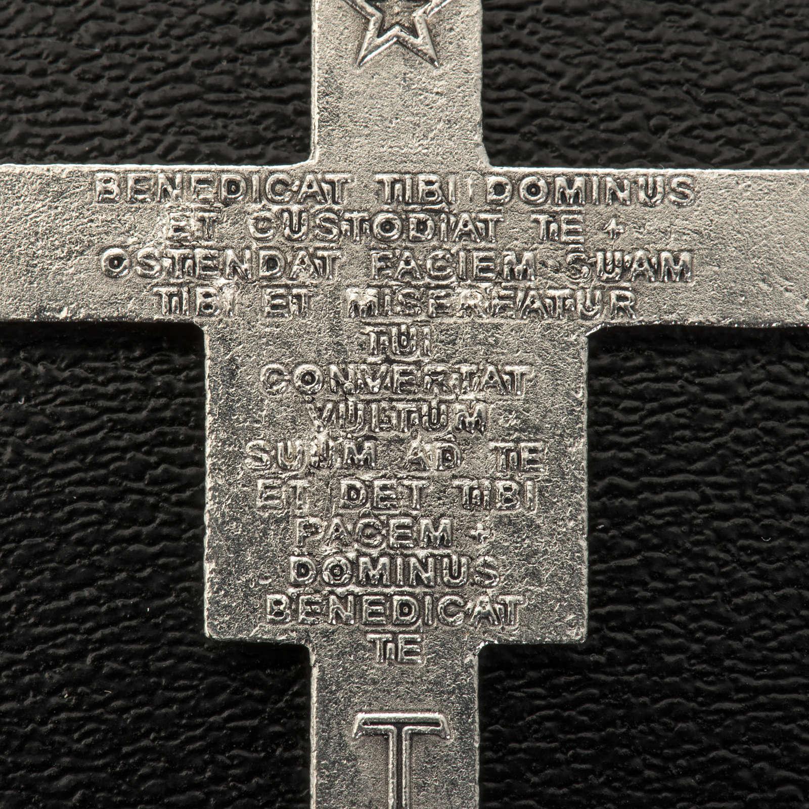 Croce rosari San Damiano metallo argentato h 3,6 cm 4