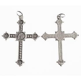 Croce 40 mm galvanica argento antico s1