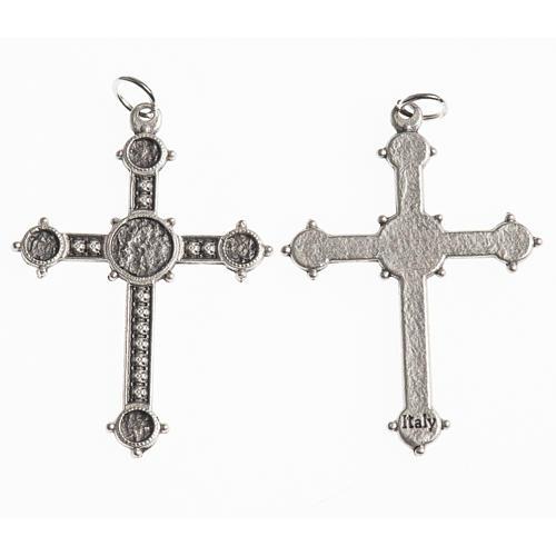 Croce 40 mm galvanica argento antico 1