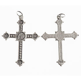 Cross, 40mm, galvanic antique silver s1