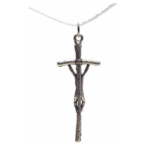 Cruz pastoral metal plateado rosario hecho por ti 4