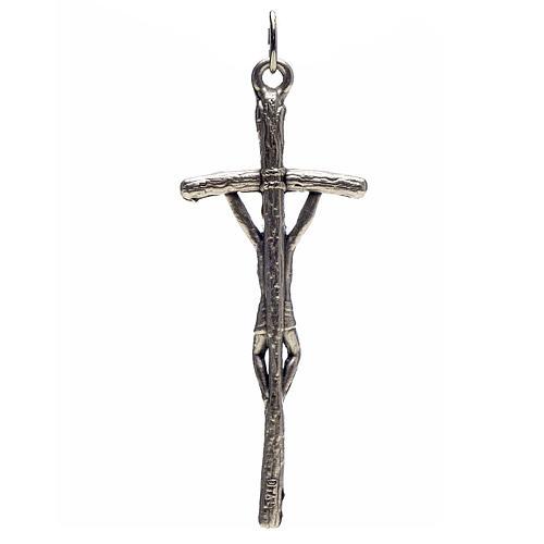 Croce pastorale metallo argentato rosari fai da te 2