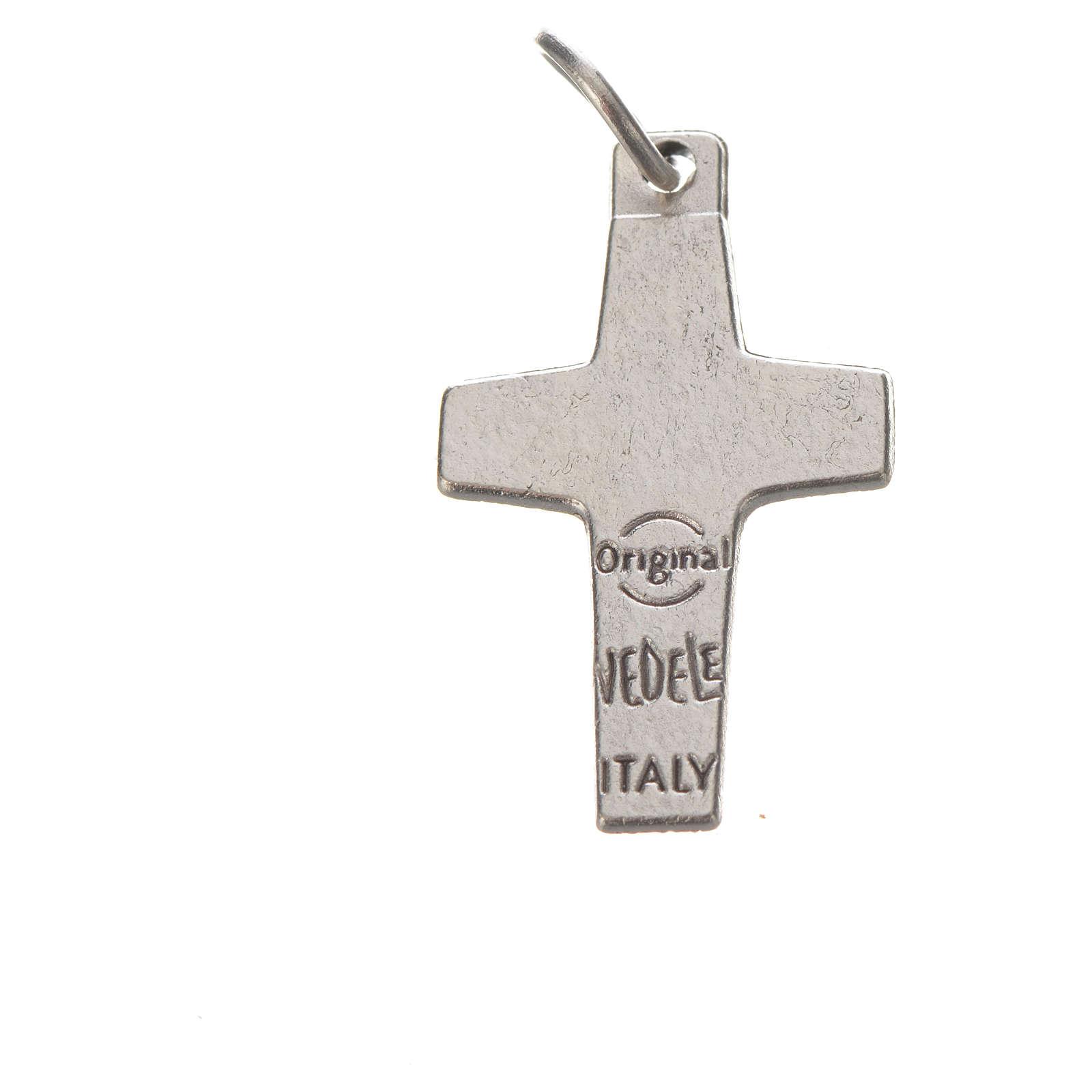 Croix Pape François 2x1,4 cm métal 4