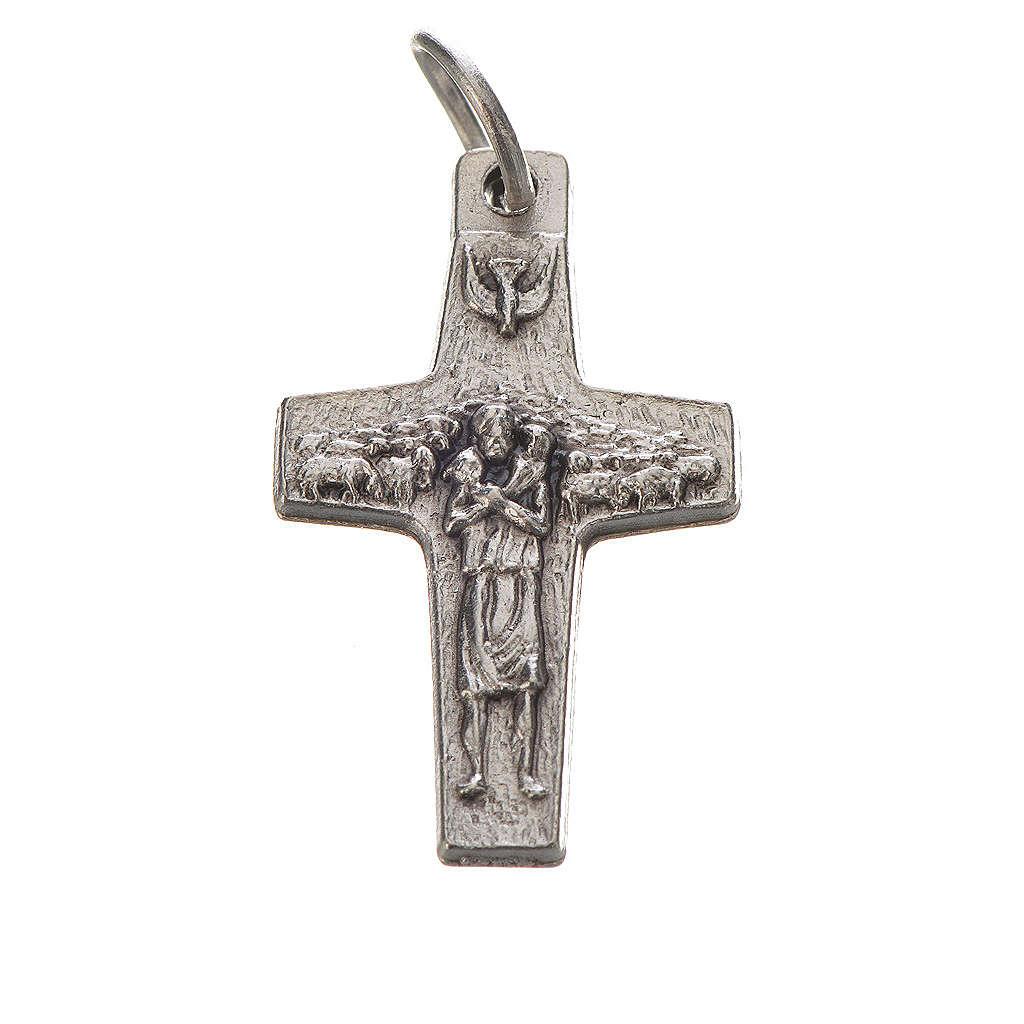 Croce Papa Francesco 2x1,4 cm metallo 4