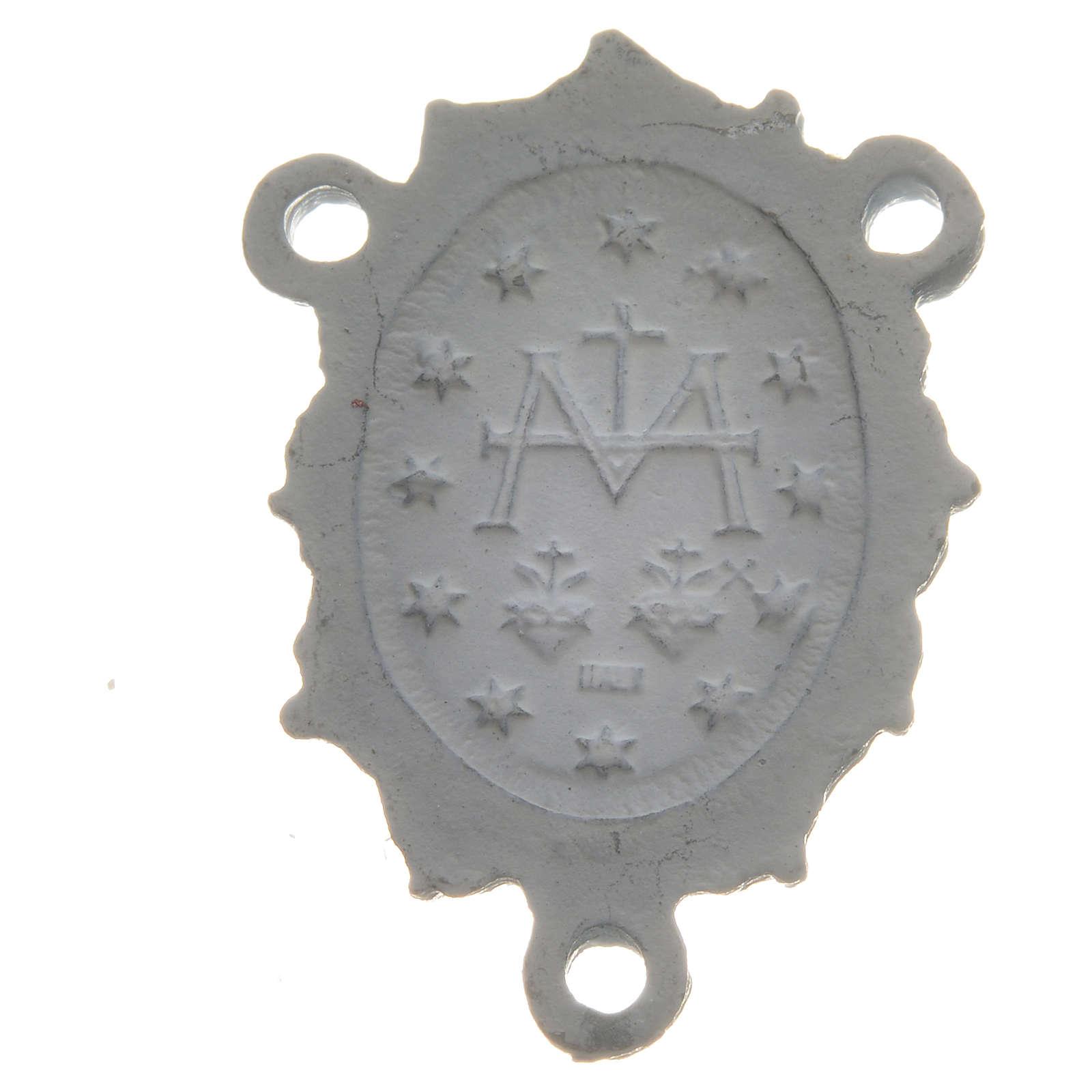 Médaille Vierge zamac blanc 4