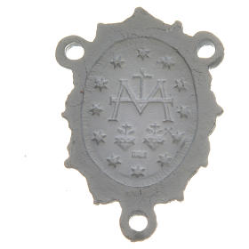 Médaille Vierge zamac blanc s2