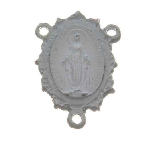 Médaille Vierge zamac blanc 1