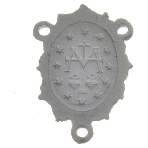 Médaille Vierge zamac blanc 2