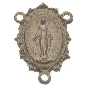 Rosary medal with Madonna, gold colour s1