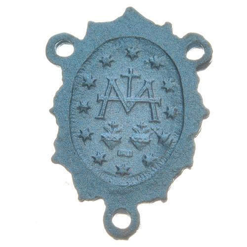 Médaille Vierge zamac bleu ciel 2