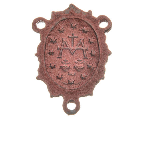 Rosary medal with Madonna, pink colour 2