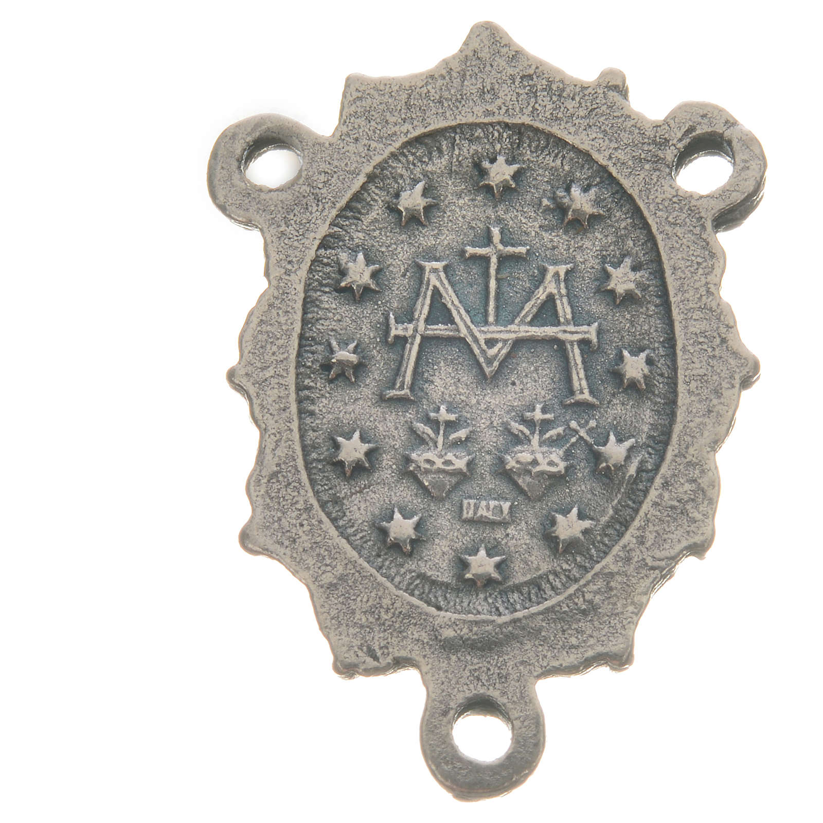 Médaille Vierge zamac argent 4