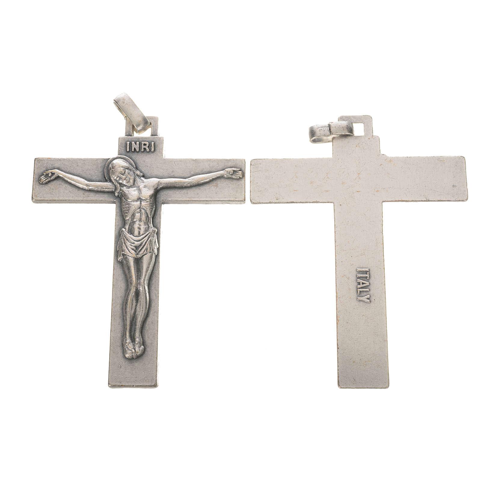 Crucifix in silver metal 7.5cm 4