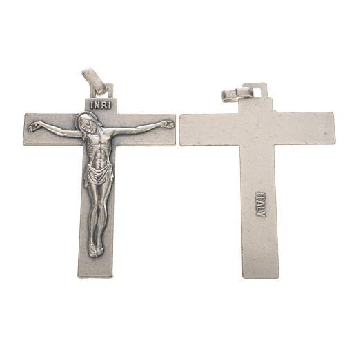 Crucifix in silver metal 7.5cm 1