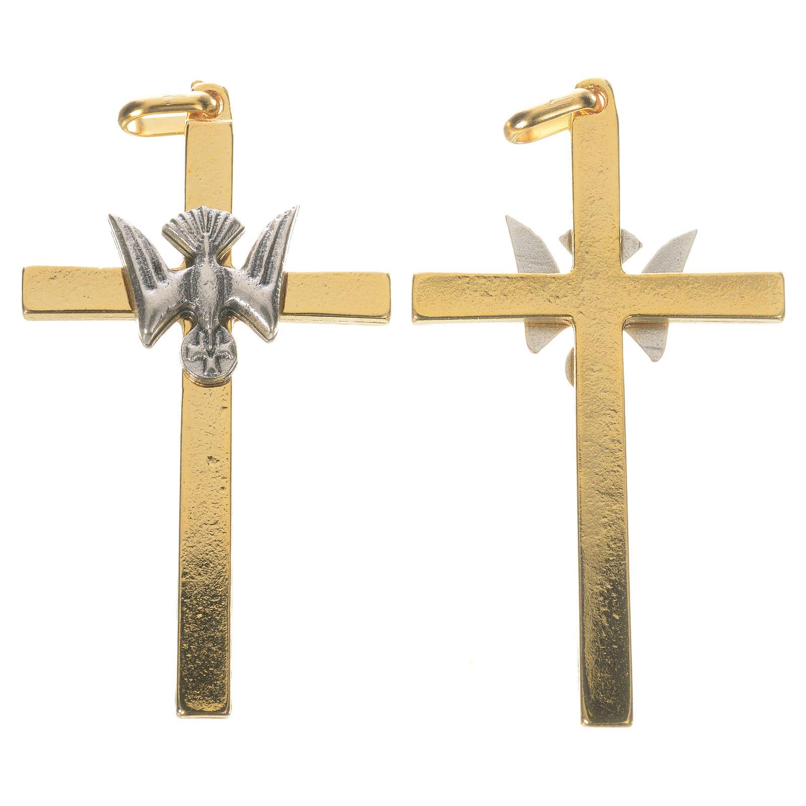 Croix dorée colombe 4