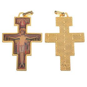 Chapelet à faire soi-même: Croix Saint Damien doré avec image