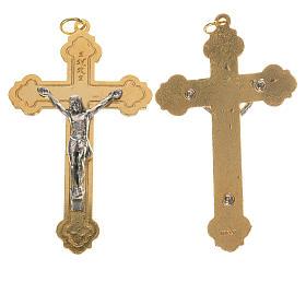 Crucifijo dorado y cuerpo de Jesús plateado s1