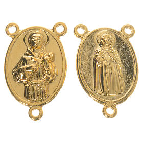 Golden medal Saint Francis and Saint Clare s1