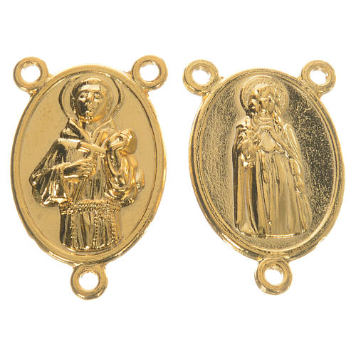 Golden medal Saint Francis and Saint Clare 1