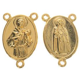 Chapelet à faire soi-même: Médaille dorée St François et Sainte Claire