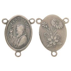 Peças para Montagem de Terços: Medalha Padre Pio