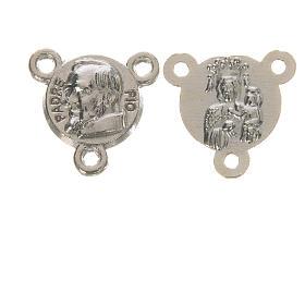 Chapelet à faire soi-même: Médaille ronde Padre Pio diam. 1 cm
