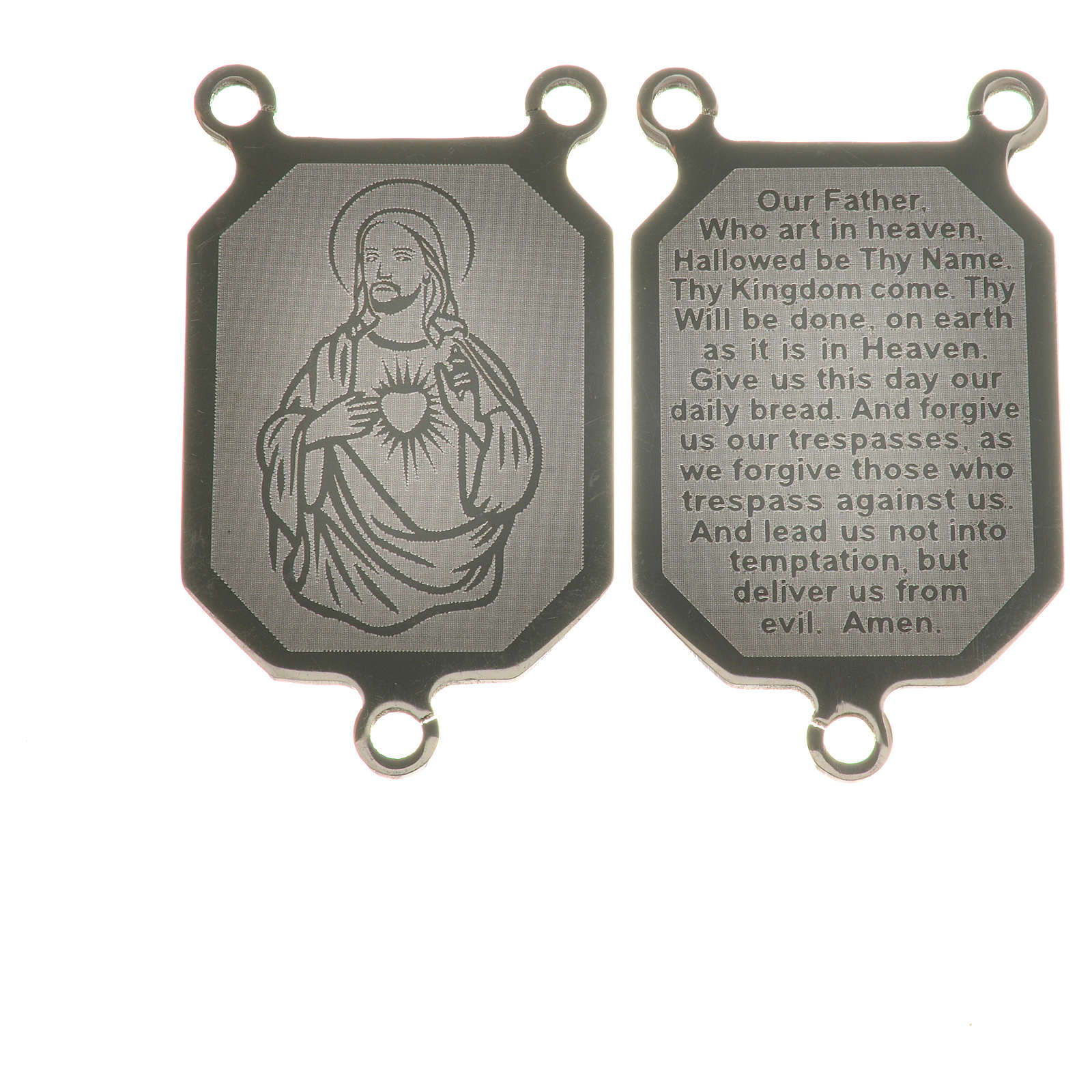 Medal in steel with laser engraving in English 4