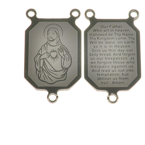 Medal in steel with laser engraving in English 1