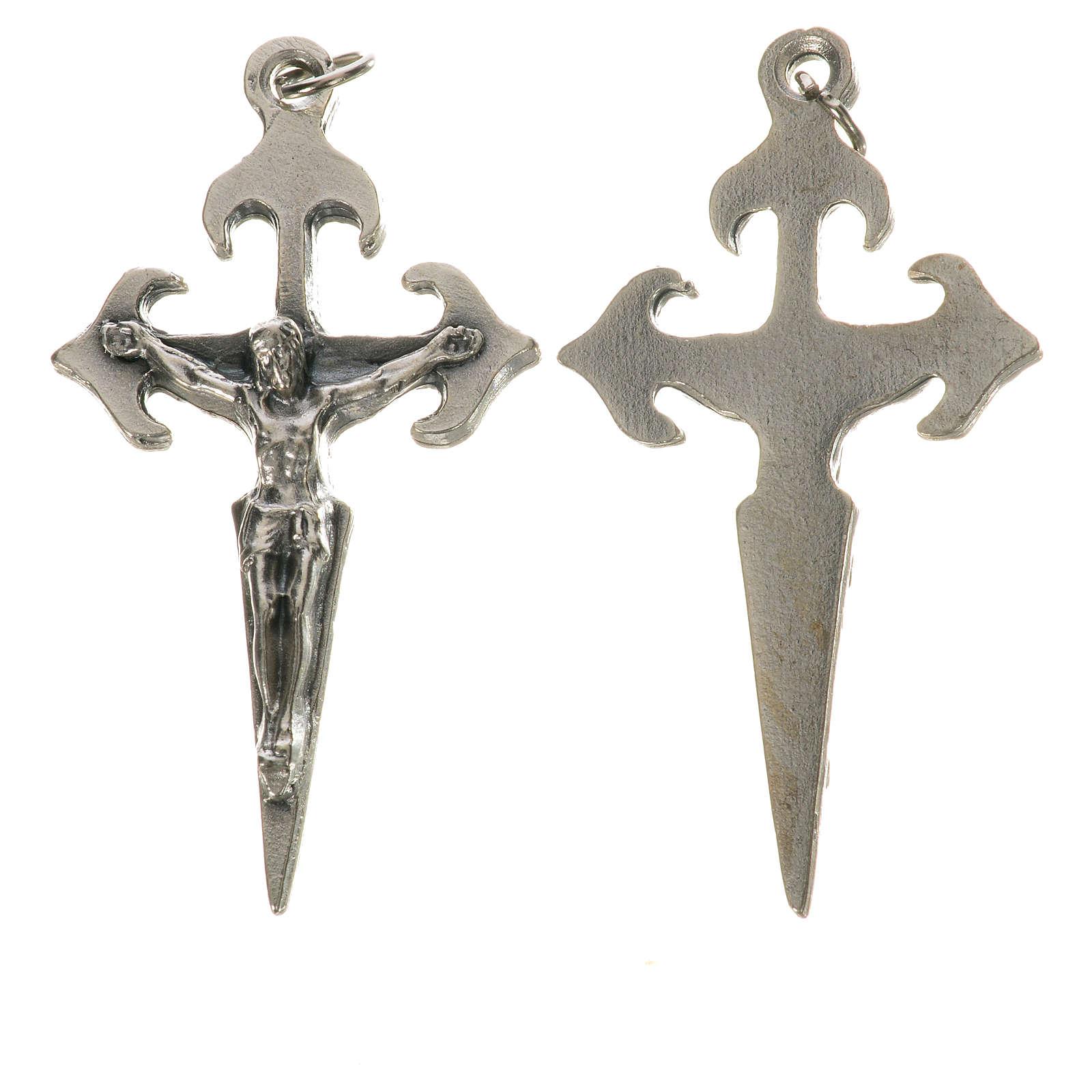Krucyfiks Św. Jakuba z kółeczkiem 4.1 cm 4