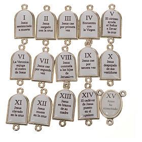 Pater et médaille Chemin de Croix ESP 15 pcs s2